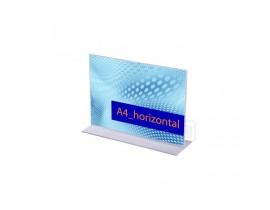 Acrylaufsteller in T-Form Querformat Prospekthalter