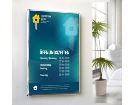 Wand türschild typ SMARTQUICK Wegeleit & Informationssysteme